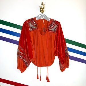 NEW Free People hearts aflame top